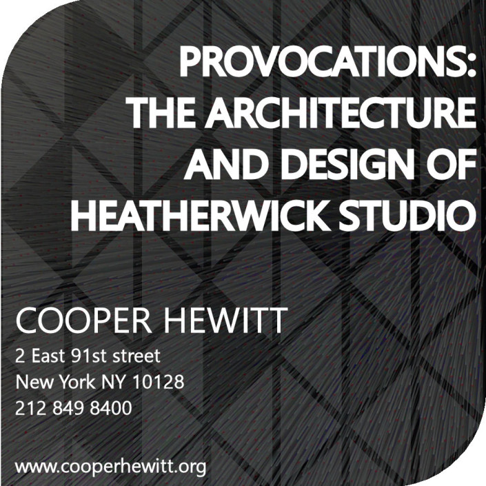 Half square, half squircle shaped part of the brochure for Heatherwich Studio