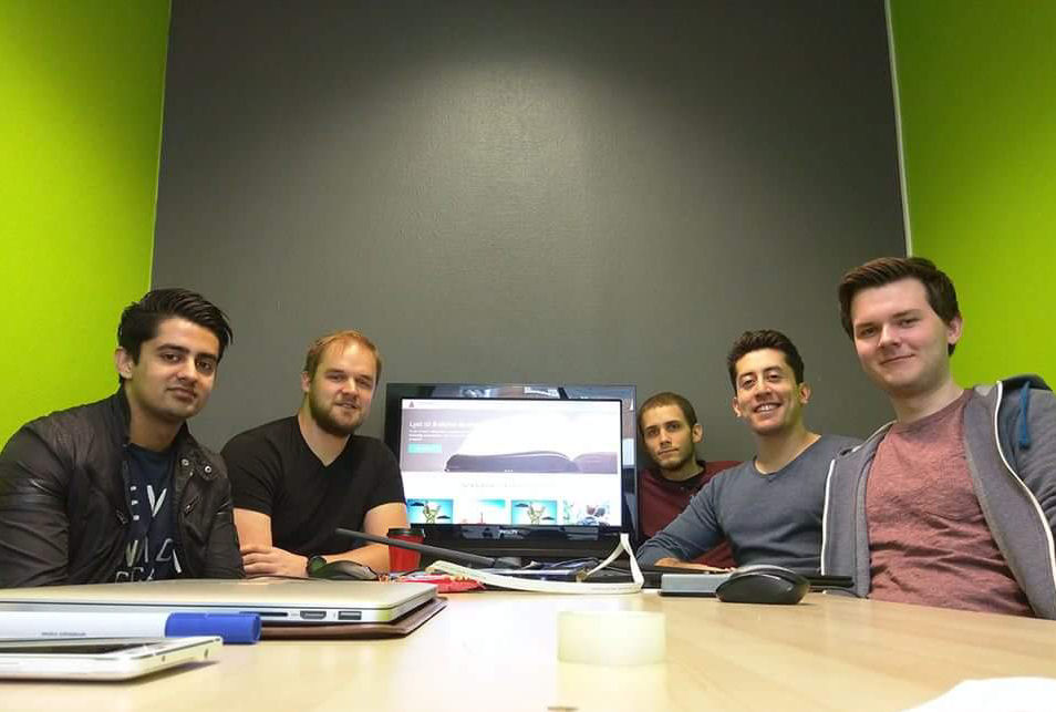 Photograph of the team that created the crowdsourcing platform
