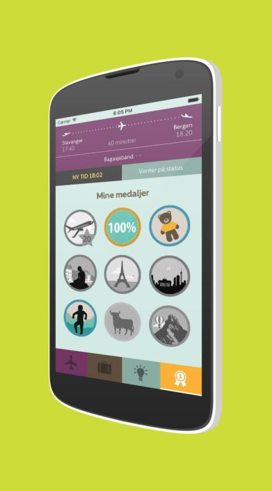 Image of the Avinor app